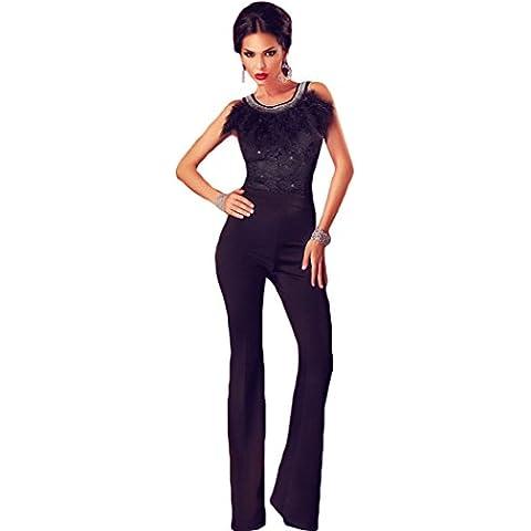 Bestime da donna, colore: nero, con finiture