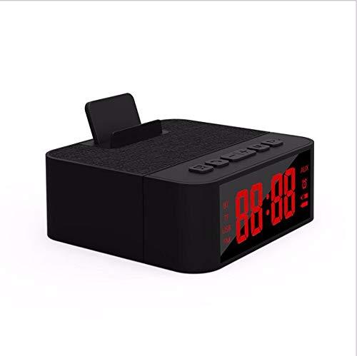 chaoaihekele Drahtlose Bluetooth-Freisprecheinrichtung Handyhalter Lade Po Uhr Wecker Bluetooth Audio Tuch Karte Lautsprecher Wohnkultur Digitale Elektronische Uhr, B