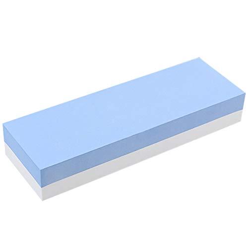 Sharpeners - Whetstone Knife Sharpener Dual Sided 400 1000 Grit Combination Sharpening Water Stone - Under Soft Ceramic Classroom Lansky Knife Seller Colored Bulk Held - Dual-tray Storage