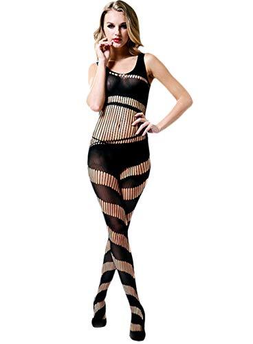 Temptation Lady One Piece Fischernetz Transparent Sexy Hohl Jacquard Netzbekleidung Pyjamas Feste, offene Spitze Trikot