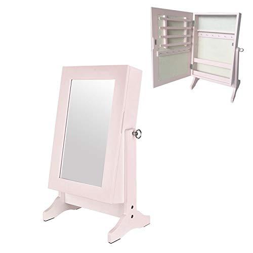 VidalRegalos Armario Joyero Espejo Madera Rosa 33 cm