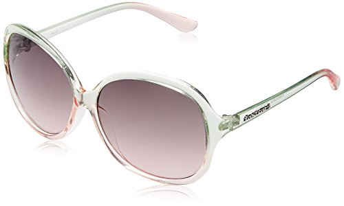 Fastrack Round Sunglasses (Blue and Pink) (P243PK1F)