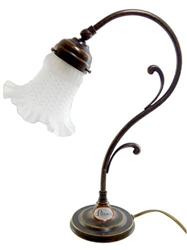 Tischlampe Messing brüniert Jugendstil Schreibtischlampe Nachttischlampe Nachttischlampe für...