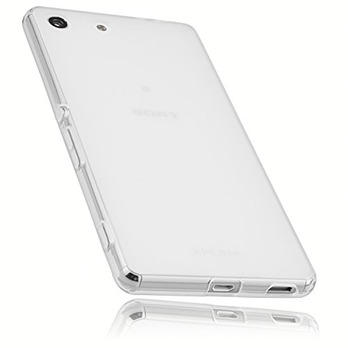 mumbi Schutzhülle für Sony Xperia M5 Hülle transparent weiss