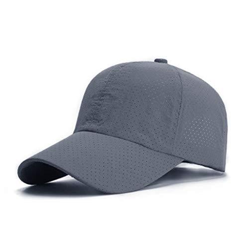 Snapback Baseball Caps Quick Dry Mesh Baseballmütze Sonnenhut Schnelltrocknende Sport Cap Breathable Hats Faltbar, Leicht, Verstellbar, Baseballkappe für Draußen, Sport und Reisen (Grau) - Leichtes Mesh-cap