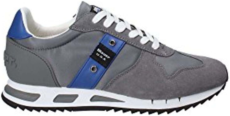 Blauer 8SMEMPHIS05 Zapatillas Bajas Hombre Gris 42 -