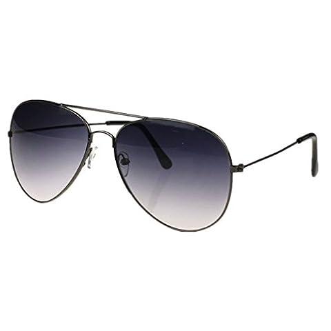 Xiahbong Unisex Klassische Metall Designer Pilot Sonnenbrillen UV Schutz Eyewear (A) (Grau)