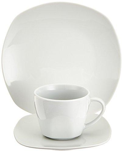 Creatable, 18790, Serie Square Betterwhite, Geschirrset Kaffeeservice 18 teilig