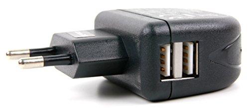Preisvergleich Produktbild 2-facher USB-Ladestecker für die meißten europäischen Steckdosen zum Aufladen unterwegs Ihrer Nintendo Spielkonsole Switch