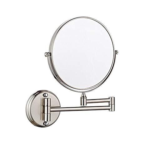 Bath Amplificador de Espejo de Belleza montado en la Pared - Espejos de baño Plegables de Doble extensión...