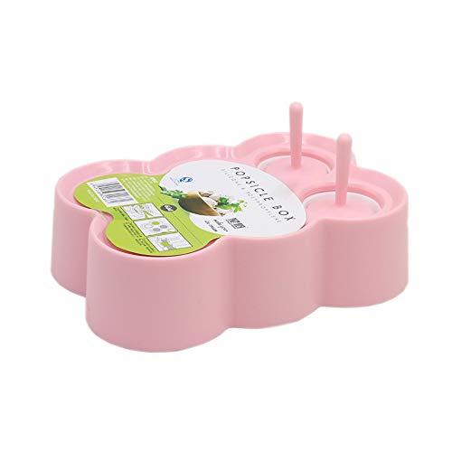 ZUEN EIS am Stiel, der Eiscreme 6 Eisbehälter DIY Nahrungsmittelgrad-Silikon-kreative Heimat-Eisform herstellt,B -
