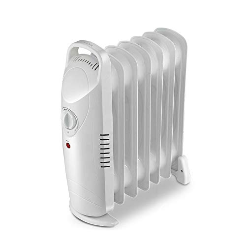 XTXWEN Mini Radiador Lleno De Aceite 700W 7 Aleta