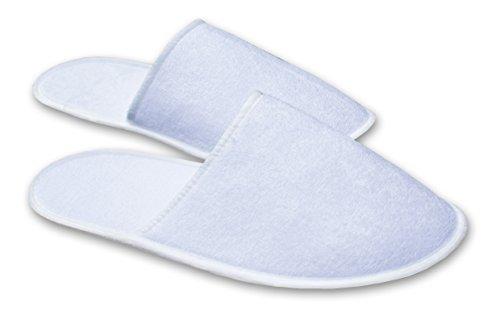 Pantofole usa e getta 10 coppia pp / ciabatte monouso per hotel / pantofole da spugna / ospiti pantofole / sauna / wellness / misura universal bianco