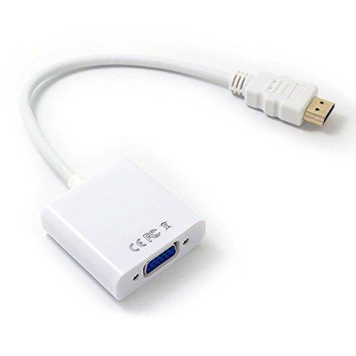 LIUYUNE,HDMI zu VGA-Adapter Buchse Video Converter 1080P Digital zu analogem Audio für PC Notebook Tablet-Projektor(Color:Weiss) Mobile Mp4 Video Converter
