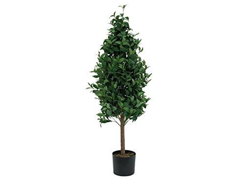 artplants Set 2 x künstlicher Lorbeerkugelbaum Leonardo im Topf, grün, 120 cm – Lorbeerbaum/Kunstbaum