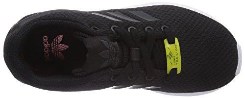 adidas ZX Flux M19387, Unisex - Kinder Laufschuhe Schwarz (Black/Black/Ftwr White)
