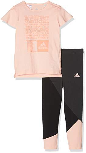 adidas Baby MinMe Set Trainingsanzug, Haze Chalk Coral, 92 -