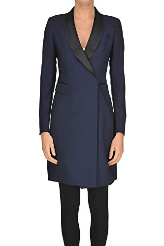 Tagliatore &Isabel X& Double-Breasted Coat Woman Navy Blue 38 IT -