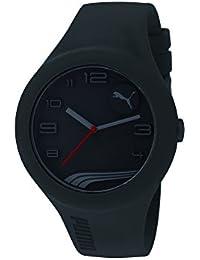 PUMA PU103211007 - Reloj analógico de cuarzo unisex con correa de plástico, color negro