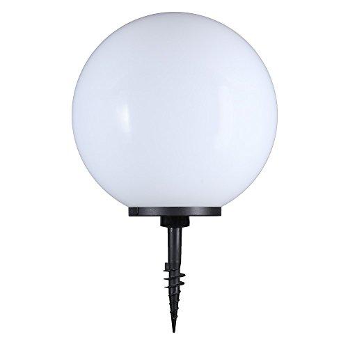 Lampe sphérique 50 cm Ø blanc de jardin,éclairage d'extérieur,beau déco pour intérieur & extérieur,Eclairage boule jardin àéconomie d'énergie E27 & LED - 230 V,avec IP44 + POINTE + Cble raccordement