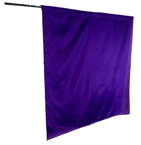 Solid Color Habotai Silk Flag PURPLE COLOR - M-size (45x36