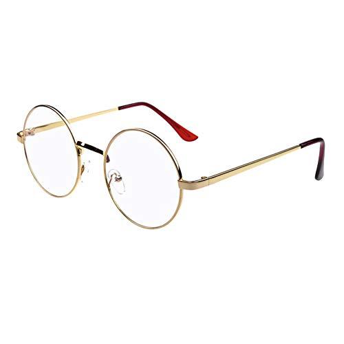 YUNCAT Brille Klassische Brille Metallgestell Brillenfassung Vintage Brille Dekobrillen Klare Linse