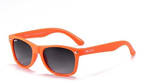 Miuno Kinder Sonnenbrille Wayfare für Jungen und Mädchen Etui 2688 (Orange)