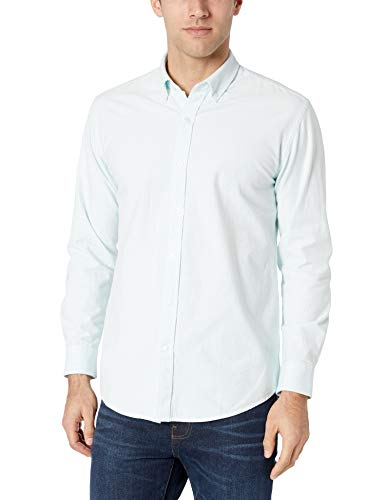 Amazon Essentials Regular-fit Long-Sleeve Stripe Oxford Casual Shirt