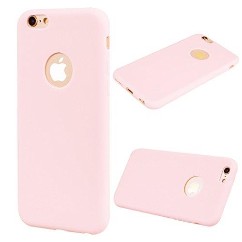 """Hülle für iPhone 6S / 6 , IJIA Rein Blau TPU Weich Handytasche Silikon Stoßkasten Handyhülle Cover Schutzhülle Schale Case Tasche für Apple iPhone 6S / 6 (4.7"""") Pink"""
