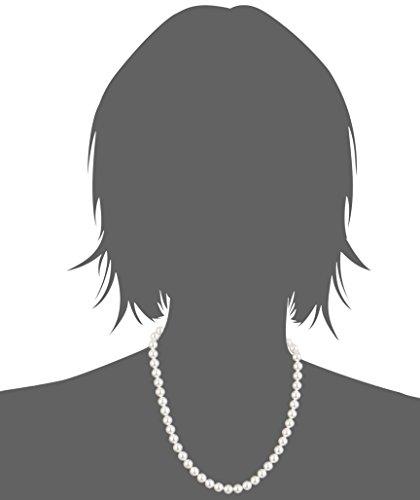 Collana di perle con Elementi Swarovski originali, con custodia per gioielli, ideale come regalo per mogli o fidanzate