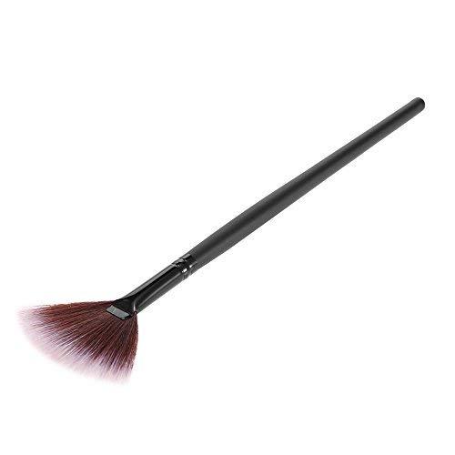 Anself Kosmetikpinsel Fächerpinsel Fan Pinsel 1PCS Schwarz -