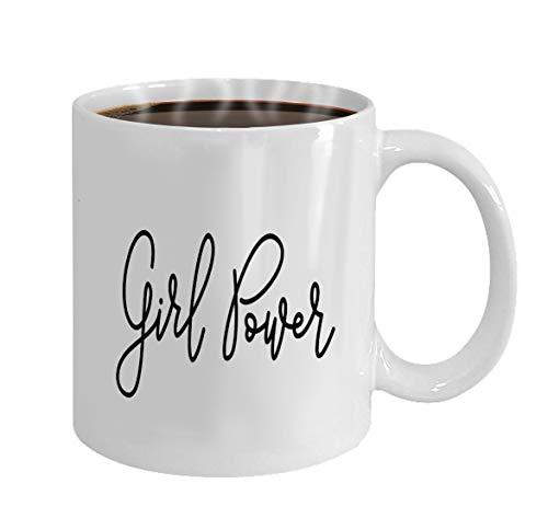 Special Coffee/Tea Mug.Birthday Gift For Men&Women,Mom,Dad,Sister,Boyfriend girl power hand lettering monoline calligraphy scri - Girl-power Grenzen
