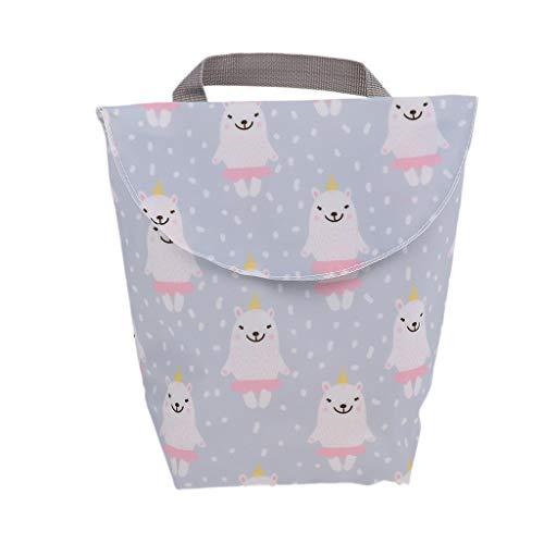 Baby Wickeltaschen Wasserdichtem Reißverschluss Wiederverwendbare Stoff Windel Tasche - Cartoon Haustier