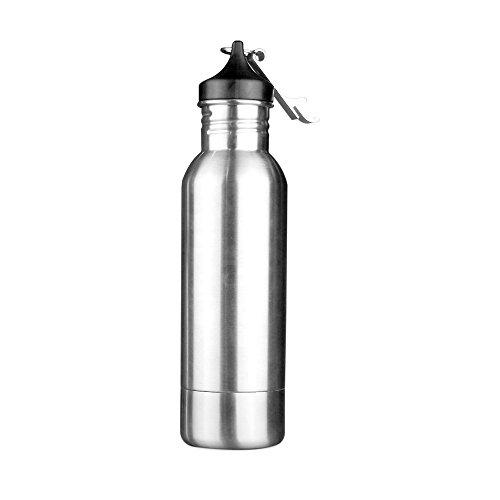 AMZTM Edelstahl Bier Flaschenkühler mit Öffner, schweißbeständig Getränkeisolator, tragbare Flasche Keeper für Bierliebhaber (Silber)