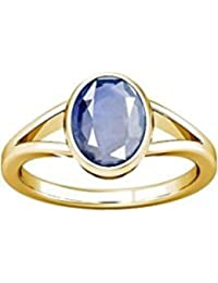 5 Carat Blue Sapphire Stone Adjustable Ring By Lab Certified