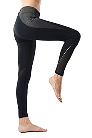 3057c47177 AllureSports Leggings Workout Exercise Tights Running Cycling Leggings Yoga  Pants for Women Power Stretch Gym Clothes Leggings with Hidden Pocket  Slimming ...