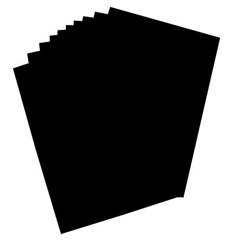 folia 65800 - Plakatkarton, ca. 48 x 68 cm, 10 Bögen, 380 g/qm, einseitig schwarz gefärbt - ideal zum Basteln oder Erstellen von Plakaten und Anzeigen