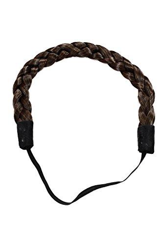 WIG ME UP - YZF-3080-2T30 Haarteil: geflochtener Haarreif Haarband braid braided hairband hair circlet Braun-Mix