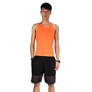 Fantasyworld Männer Schlankheits-Weste-Spitze dünnes Hemd Brust-Bauch-Kontrollstelle Shapers Gleicht Ihre Rückseite für EIN mageres Sich verjüngendes Aussehen