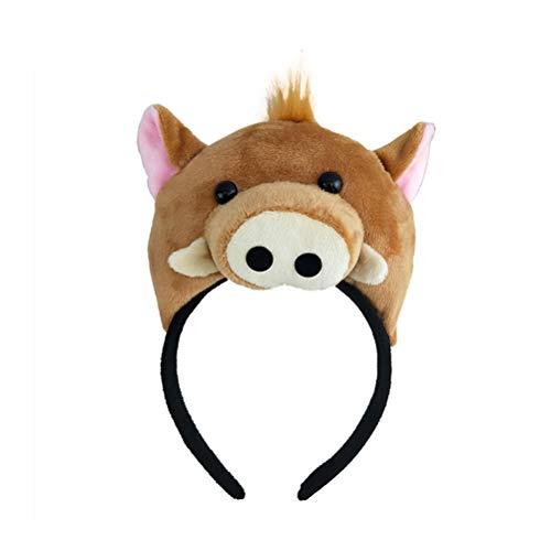 er Stirnband Wildschwein Cartoon Haarschlaufe Haarspange für Kinder Leistung Halloween Cosplay Leistung Party Requisiten Dekor ()