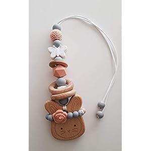 Babyschalenanhänger aus Silikonperlen Maxicosianhänger Kinderwagenanhänger Spielbogenanhänger Mädchen Nude