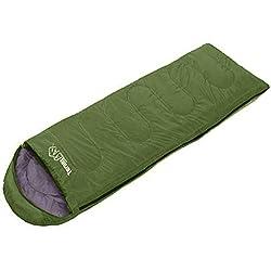 TurnerMAX Sac de couchage d'extérieur multifonction pour adulte ou enfant - 1 personne - Activités de plein air/Randonnée/Camping - Housse étanche zippée compressée, Vert (Vert) - unknown