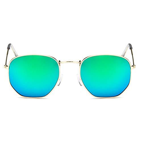 KCJKXC Damen Sechskant Metall Damen Markendesigner Randlose Klare Linsen Sonnenbrillen
