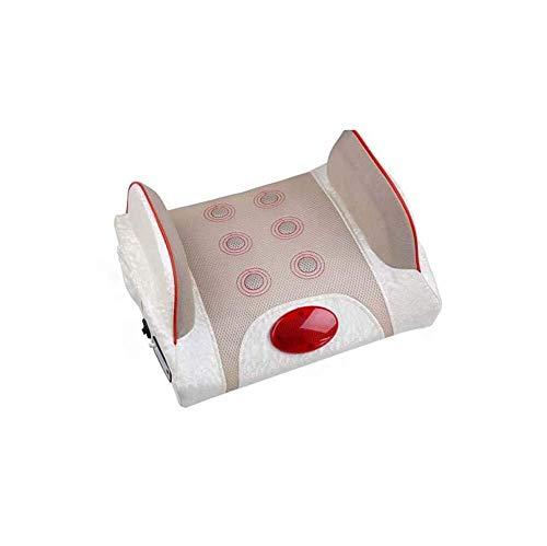 F Lendenwirbel-Massagegerät, Taillen-Rückenmassagekissen Multifunktions-Car-Home-Lendenwirbel-Traktionsheizung Physiotherapie-Instrument PU-Leder-Netzmaterial Mit Adapter, Zigarettenanzünder