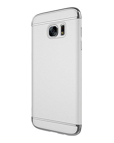 ZongSen Samsung Galaxy S7 edge Hülle Schlanke Matt Case Bumper Cover Schutz Tasche Schale Hardcase Silber Samsung S7edge