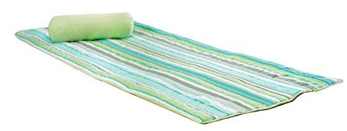 gesteppte Strandmatte mit Nackenrolle Picknickdecke 80x180cm grün -