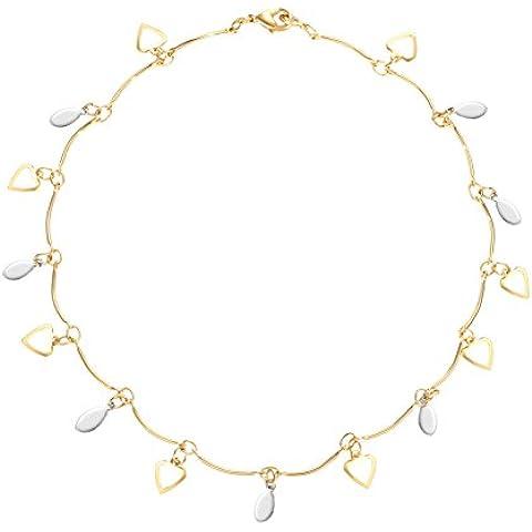 ZWX catena di moda placcato oro Signore/Bohemien amore soldi catena-A - Sterling D'oro In Rilievo Bracciali