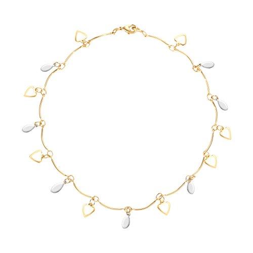catena di moda placcato oro Signore/Bohemien amore soldi catena-A - Croce D'oro In Rilievo Bracciali