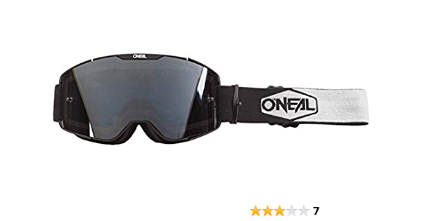 O Neal Bicycle Motocross Goggles Mx Mtb Dh Fr Downhill Freeride Adjustable Band Optimal Comfort Perfect Ventilation B 20 Goggles Unisex Black White Grey Mirrored One Size Bekleidung