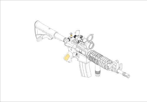 Trumpeter 01917 - Modellbausatz AR15/M16/M4 Family-M933